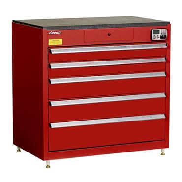Kennedy 39115EKR 5-Drawer Red eKentrol Cabinet