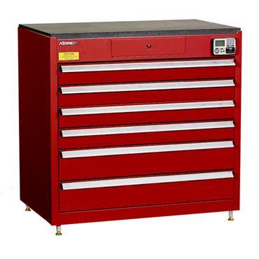 Kennedy 39116EKR 6-Drawer Red eKentrol Cabinet