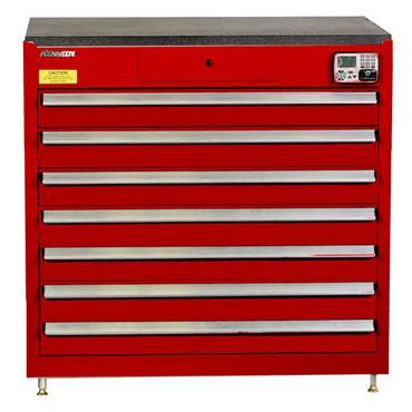 Kennedy 39117EKR 7-Drawer Red eKentrol Cabinet