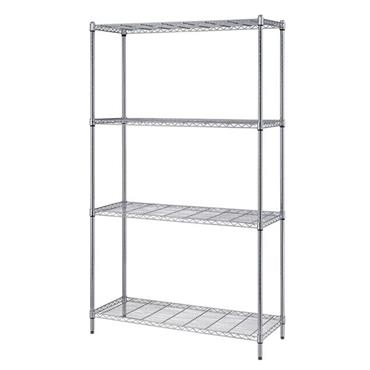 QUANTUM STORAGE RWR72 4-Tier Complete Wire Shelving Unit