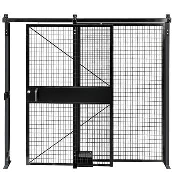 FOLDING GUARD Saf-T-Fence Single Slide Door, Black