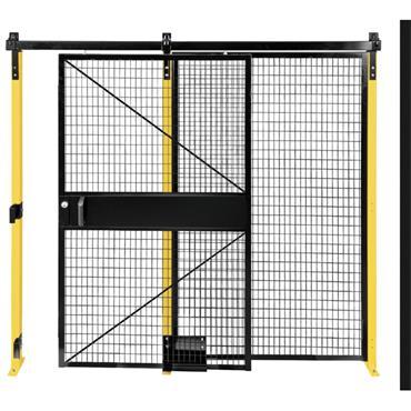 FOLDING GUARD Saf-T-Fence Single Slide Door, Black