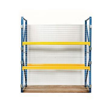 FOLDING GUARD Qwik Fence for Pallet Rack, Flat Back Panel