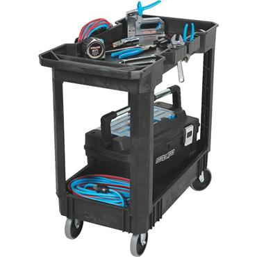 Channellock 602147 2-Shelf Black Heavy Duty Cart