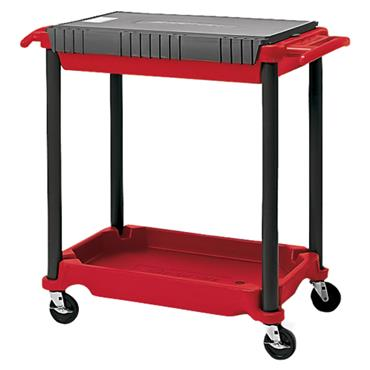 Snap-On KRP1HD 2-Shelf Red/Grey Heavy Duty Polymer Roll Cart