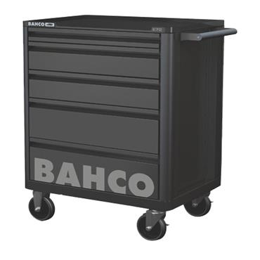 Bahco FF1ASET-BASIC 5-Drawer Black Wheeled Tool Trolley with 158 Tools and Accessories