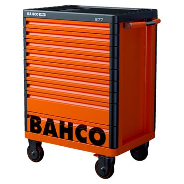 Bahco E77 1477K9 9-Drawer Orange Mobile Tool Trolley Cabinet