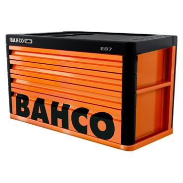 Bahco E87 1487K4 4-Drawer Orange Tool Top Chest for E77 Trolleys
