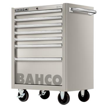 Bahco S70 1470K7SS 7-Drawer Robust Stainless Steel Tool Trolley Cabinet
