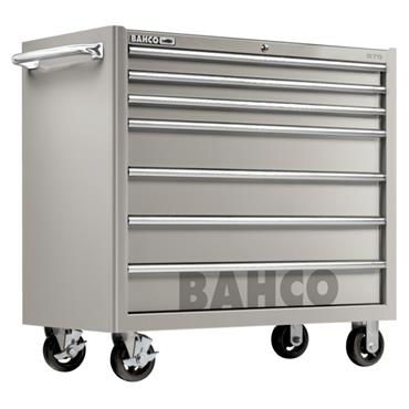 Bahco S75 1475KXL7SS 7-Drawer Robust Stainless Steel Tool Trolley Cabinet