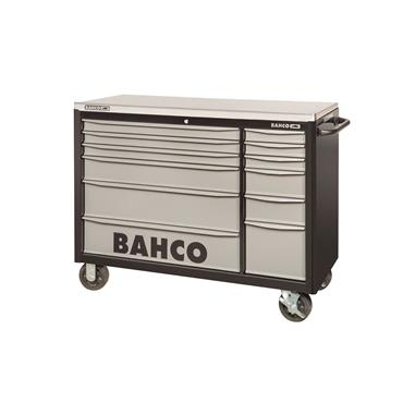 Bahco 1471KXXL12BKTSS 12-Drawer Grey Double Bank Tool Trolley Cabinet
