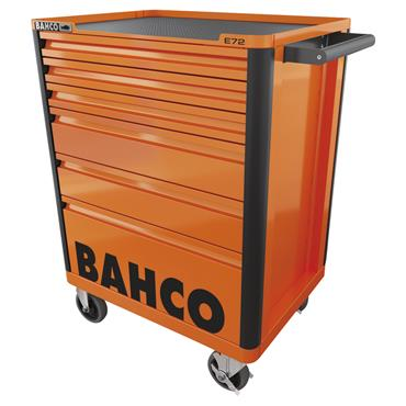 Bahco E72 1472K6FF1SD 6-Drawer Orange 147 Piece Tool Assortment Trolley