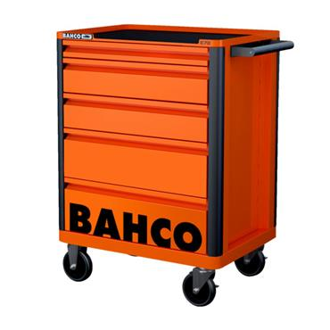 Bahco E72 1472K5 5-Drawer Orange Tool Trolley Cabinet