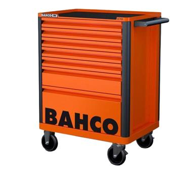 Bahco E72 1472K7 7-Drawer Orange Mobile Roller Cabinet