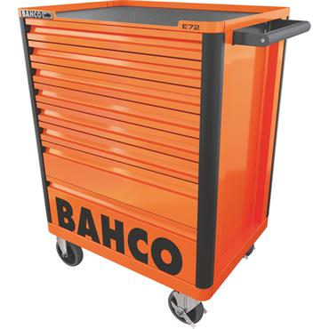 Bahco E72 1472K8 8-Drawer Orange Mobile Roller Cabinet