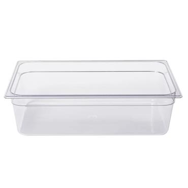 Rubbermaid 132P 19.5 Litre Clear Full Size Cold Food Pan