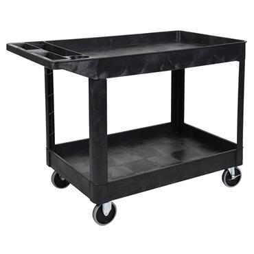 Luxor XLC11-B 2-Shelf Heavy-Duty Utility Cart