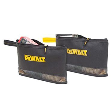 Custom Leathercraft DG5102 DeWALT Multi-Purpose Zip Bags - 2 Pack
