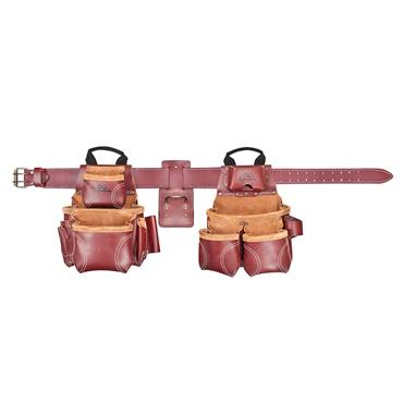 Custom Leathercraft 21453 18 Pocket Heavy-Duty Leather Tool Bag