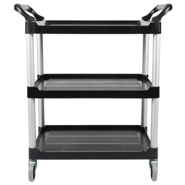 Rubbermaid FG3424 3-Shelf Black Utility Cart