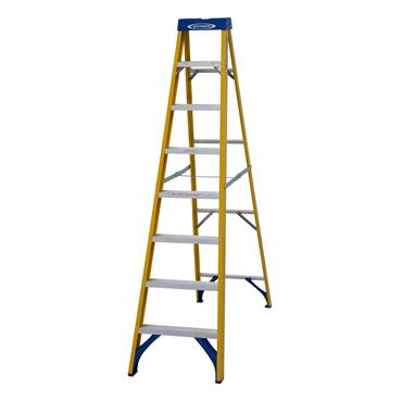 Werner 7160818 Stepladder Fibreglass 8 Tread Trade
