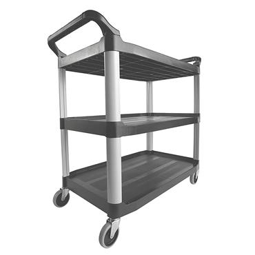 Rubbermaid 1814568 3-Shelf Grey Open Cart