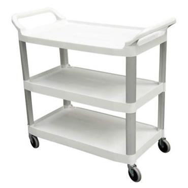 Rubbermaid 1814567 3-Shelf White Open Cart