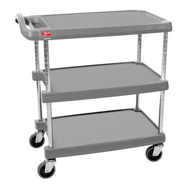 Metro MY1627-34G 3-Shelf Grey Polymer Trolley