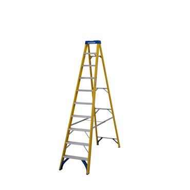 Werner 7161018 Stepladder Fibreglass 10 Tread Trade
