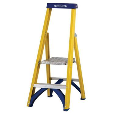 Werner 71702 Stepladder Fibreglass Platform 2 Tread Trade