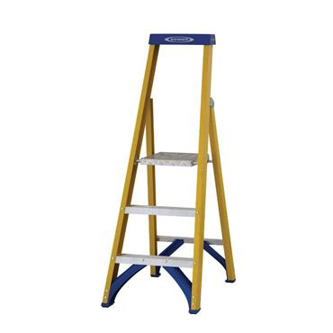 Werner 71703 Stepladder Fibreglass Platform 3 Tread Trade