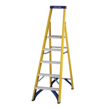 Werner 71705 Stepladder Fibreglass Platform 5 Tread Trade