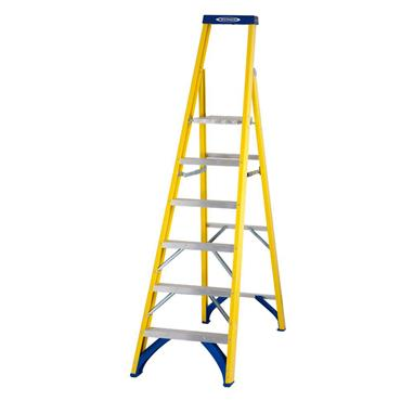 Werner 71706 Stepladder Fibreglass Platform 6 Tread Trade