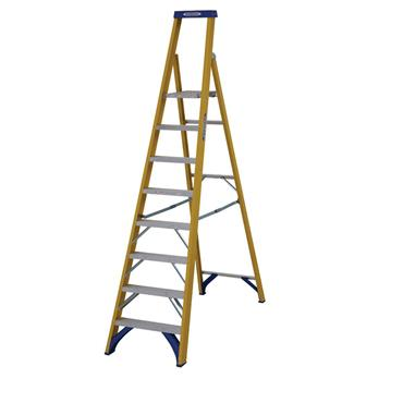 Werner 71708 Stepladder Fibreglass Platform 8 Tread Trade