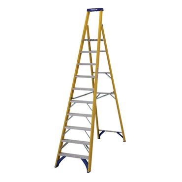 Werner 71710 Stepladder Fibreglass Platform 10 Tread Trade