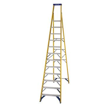 Werner 71712 Stepladder Fibreglass Platform 12 Tread Trade