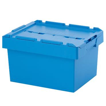 Auer Packaging MBD6432 88 Litre Reusable Container with Lid - Sky Blue