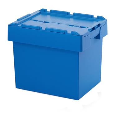 Auer Packaging MBD 6442 72 Litre Reusable Containers with Lid - Sky Blue