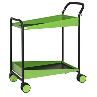 KM 1987 2-Shelf Green/Black Konga Trolley