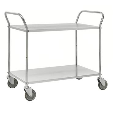 KM 4105-E 2-Shelf Electro Galvanized Trolley