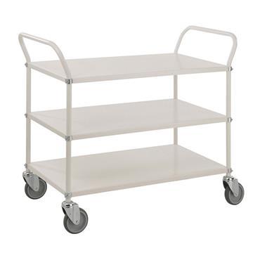 KM 4106 3-Shelf White Trolley