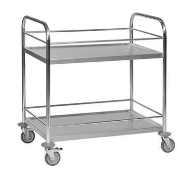 KM 60357 2-Shelf Stainless Steel Trolley