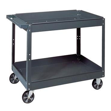 Edsal SC-2020 2-Shelf Grey Commercial Service Cart