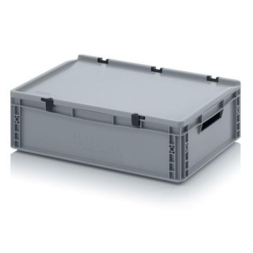 Auer Packaging ED64/17 35 Litre Euro Container w/Hinge Lid