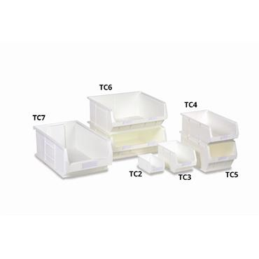 Topstore White AntiBacterial Open Front Containers