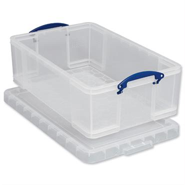 CITEC Plastic Storage Box 50 Litre Stackable Clear