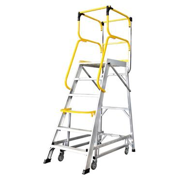 Werner 1340 Mobile Safety Steps with Large Platform
