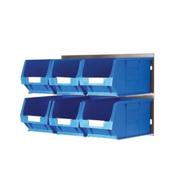 Topstore Storage Bin Kit Louvred Panel and 6 x TC3 Bins (Blue)