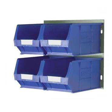 Topstore Storage Bin Kit Louvred Panel and 4 x TC4 Bins (Blue)