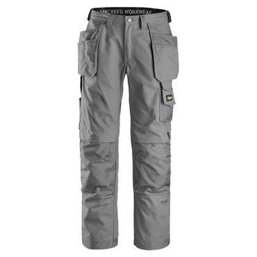 Snickers 3214 Canvas+ Craftsmen Holster Pocket Trousers - Grey